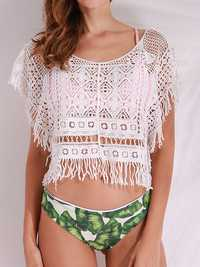 Beach Sexy Tassel Knitting Hollow Cover-Ups Swimsuit