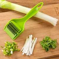KCASA KC-MS06 Stainless Steel Green Onion Slicer Vegetable Garlic Cutter Shredder Kitchen Tools