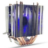 6 Heat Pipes Blue LED CPU Cooling Fan Cooler Heat Sink For Intel LAG 1155 1156 AMD Socket AM3/AM2