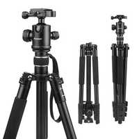 SHOOT XTGP439 Aluminum Alloy 4-Sections Camera Tripod for Canon for Nikon DSLR Stand With Ball Head 8kg Max Load 1.6m Max Height