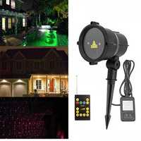 Waterproof R&G Laser Remote LED Outdoor Projector Landscape Light for Garden Home Party Decor