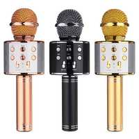Wireless Mini Portable WS-858 Karaoke Microphone bluetooth USB Speaker Outdoor