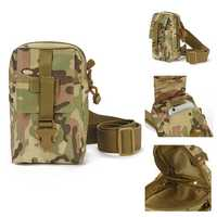Outdoor Tactical Large Capacity Zipper Cross Body Shoulder Bag Storage Pouch for iPhone Mobile Phone