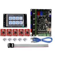 TFT32 Full Color LCD Touch Screen + MKS-GEN L Mainboard with 5Pcs Red A4988 Driver 3D Printer Controller Board Kit