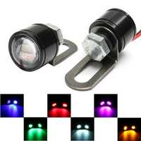 Pair 12V Motorcycle Mirror Mount Eagle Eye LED Flash Strobe Backup DRL Lights Lamp