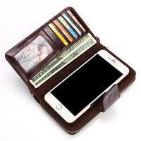 Men Genuine Leather Retro Clutch Bag Male Wallet Phone Bag