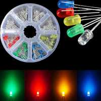 160pcs 3mm LED Diodes Yellow Red Blue Green Light Assortment DIY Kit