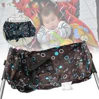 Foldable Baby Hammock Shopping Cart Chair Seat Pad Detachable Camping Hammock With Safety Belt