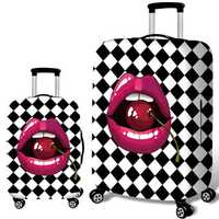 Honana Cherry Lips Elastic Luggage Cover Trolley Case Cover Durable Suitcase Protector for 18-32 Inch Case Warm Travel Accessories