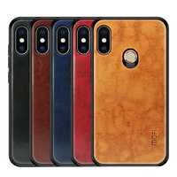 Mofi Shockproof PU Leather Pattern Soft TPU Back Cover Protective Case for Xiaomi Redmi Note 6 Pro