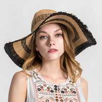 Women Outdoor Breathable Wide Brim Sunshade Straw Hat