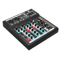 4 Channel Professional Stage Live Studio Audio Mixer USB Mixing Console DJ KTV
