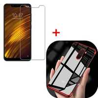 Bakeey Soft Protective Case + Anti-explosion Tempered Glass Screen Protector for Xiaomi Pocophone F1