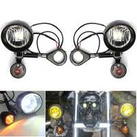 Motorcycle Turn Signals and LED Sopt Lights With 39mm Clamp Set For Honda Yamaha