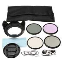 67MM UV CPL FLD ND4 Polarizing Lens Filter Kit Hood Cap Bag
