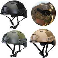 Military Tactical Airsoft CS Game Paintball Base Jump Protective Fast Helmet