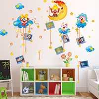 Lovely Kids Monkey Room Decor Kids Room Wall Sticker Removable Monkey Stars Wall Sticker