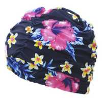 Women Cotton Solid Color Oversized Turban Cap