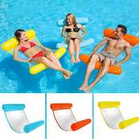 Portable Foldable Inflatable Water Floating Chair Seat Bed Summer Swimming Pool Fun Toy