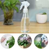 Plastic 200ml Clear Empty Spray Bottles Hand Trigger Sprayer For Gardening Salon
