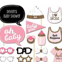 Baby Shower Party Props Baby Bottle Cardboard Photo Booth Props On A Stick Favor Party Set Gift