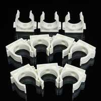 10Pcs White Plastic PPR Heat Fusion Plumbing Pipe Tube Clips Clamps Holder