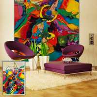 PAG Roller Shutters Visual Impact Painting Roller Blind Background Wall Decor Window Curtain