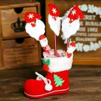 Christmas 2017 Honana-HF616 Paper Gift Box Candy Box Fit Party Christmas Shoes Pattern Jewelry Packaging Box