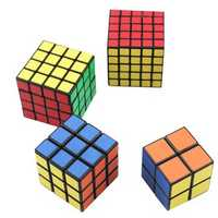 4PCS Classic Magic Cube Toys Set 2x2x2 and 3x3x3 4x4x4 and 5x5x5 PVC Sticker Block Puzzle Speed Cube