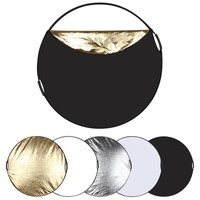 PULUZ PU5111 60cm 5 in 1 Folding Photo Studio Reflector Board Silver Translucent Gold White Black