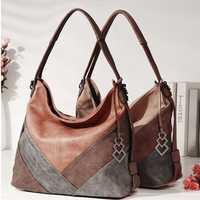 Brenice Women Multi-carry Casual Patchwork Tote Bag Handbag