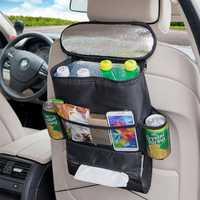 KCASA KC-KS03 Car Storage Bag Food Beverage Paper Towels Organizer Container Picnic Lunch Dinner Bag Ice Cooler