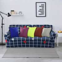 Honana WX-137 40x40cm Solid Color Pillow Case Sofa Cushion Bedside Office Car Chair Pillow Cover Christmas