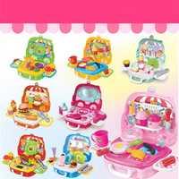 Pretend Play Set Kids Dream Suitcase Educational Role Play Boys Girls Blocks Toys Set