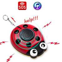 AF-4201 130db Emergency Self Defense Personal Security Alarm Everyday Carry Keychain Light for Elder Kid Women & Music Speaker