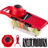 QuickDone Plastic Vegetable Fruit Slicers & Cutter With Adjustable Stainless Steel Blades Carrot Potato Onion Grater