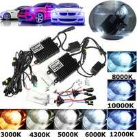 2Pcs 100W H1 Car Xenon Headlights Bulbs HID Lamp Kit with Ballast 4300K-12000K DC 12V