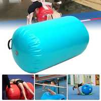 35.49x41.39inch Inflatable Gymnastic Air Rolls Beam Yoga Gymnastics Cylinder Airtrack Exercise Column Training Air Mat