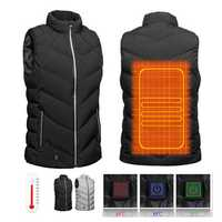 Winter USB Electric Heated Vest Battery Powered Light Weight Warm Motorcycle Coat