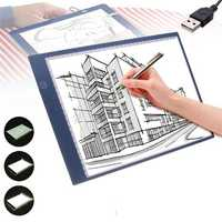 A4 USB LED Artist Tattoo Stencil Board Night Light Box Tracing Drawing Board Pad Table