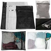 5Pcs 3 Sizes Zippered Mesh Laundry Wash Bag Lingerie Socks Underwear Clothes Storage