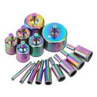 Drillpro 15pcs 6-50mm Titanium Diamond Hole Saw Drill Bit Set Tile Ceramic Glass Marble Drill Bits