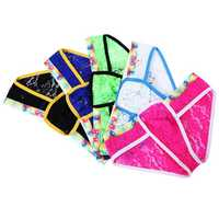 Sexy Lace Mens Fun Triangle Underwear Low Waist Transparent Breathable Contrast Color Underpants