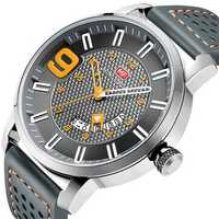 MINI FOCUS MF0154G Military Style Calendar Men Quartz Watch
