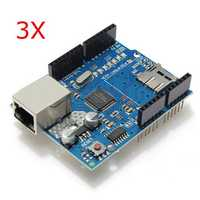 3Pcs Geekcreit® Ethernet Shield Module W5100 Micro SD Card Slot For Arduino UNO MEGA 2560
