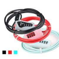 GIYO L-03 2M Anti-theft 4 Digits Code Bicycle Cable Lock for Motorcycle MTB Road Bike