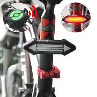 BIKIGHT Intelligent Remote Control Bicycle Light LED Warning Laser Steel Ring Tail Lights