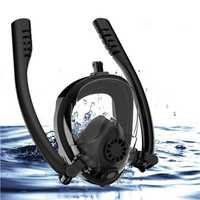 Outdoor Antifog Full Face Scuba Snorkel Diving Mask Double Tube Swim Goggles With Gopro Camera Holder