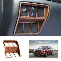 ABS Peach Wood Grain Headlight Switch Cover Trim for Honda CRV CR-V 2017 2018