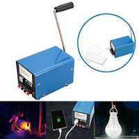 IPRee® Outdoor 20W Manual Hand Crank Generator DIY USB Electric Dynamo Power Emergency Phone Charger